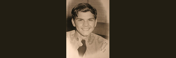 """Photo showing Immanuel """"Mana"""" Trujillo as a young man in WW2"""